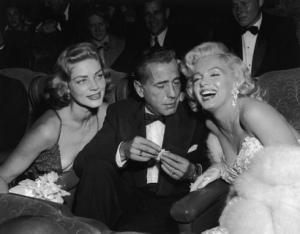Lauren Bacall, Humphrey Bogart y Marilyn Monroe